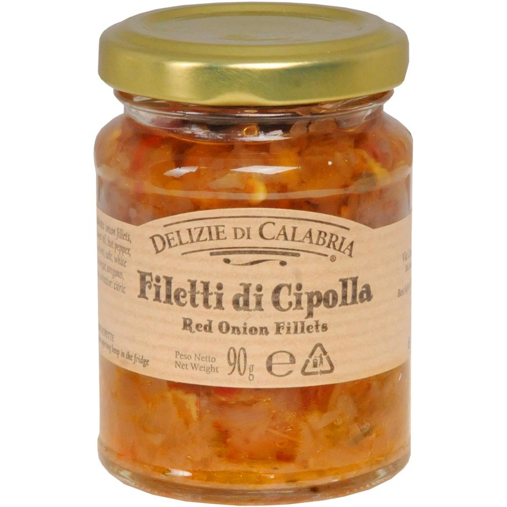Rustikale Zwiebelsauce mit Chili Filetti di cipolla rossa Chutney