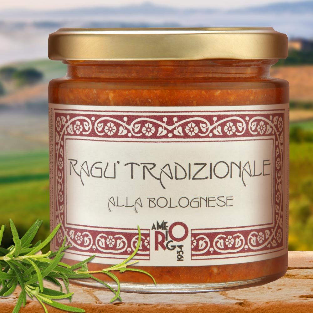 Ragu tradizionale alla bolognese Bologneser Fleischsauce Amerigo 1934