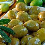 Olive verdi schiacciate Gr�ne Oliven mit Stein Extra gro�es Glas