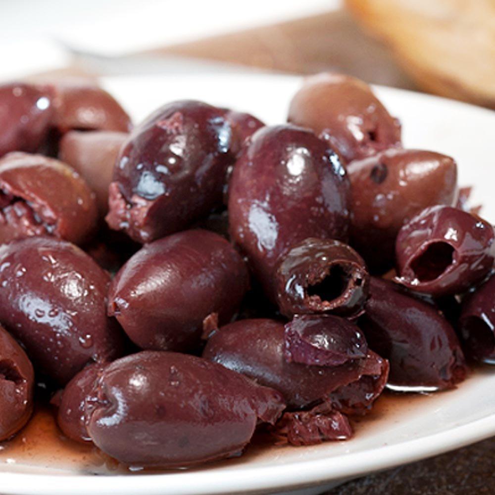 Schwarze Oliven ungeschw�rzt ohne Stein in Oliven�l Zuccato