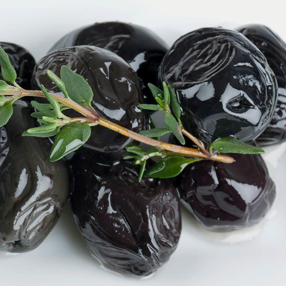 Olive nere tostate Schwarze Oliven mit Stein geröstet Zuccato