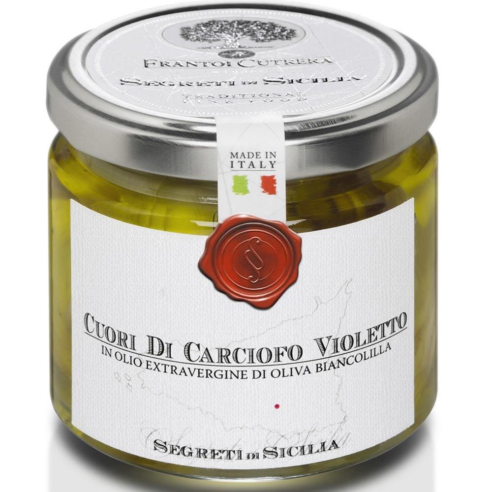 Cuori di carciofi Violetto Artischockenherzen Cutrera Sizilien