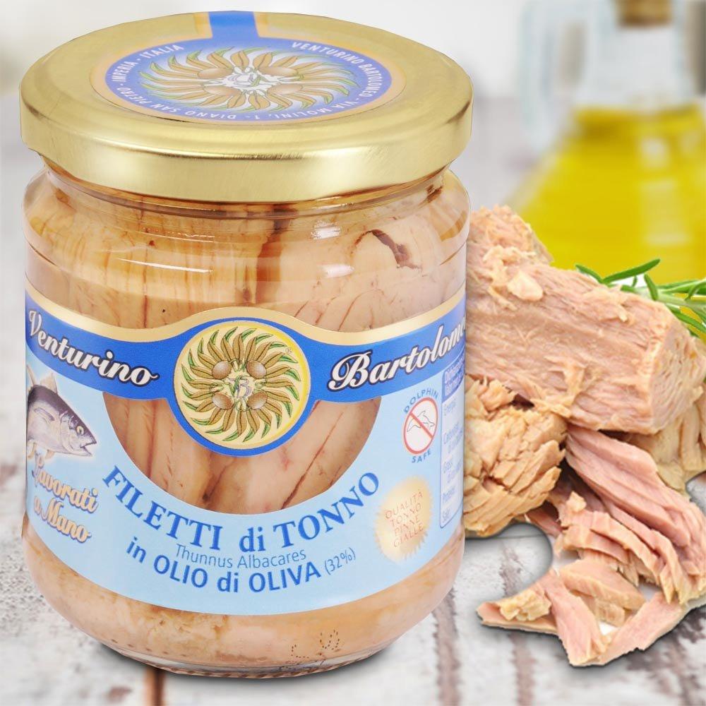 Gelbflossen Thunfischfilet in Oliven�l Tonno in Olio di Oliva Pinna Gialla Frantoio Venturino