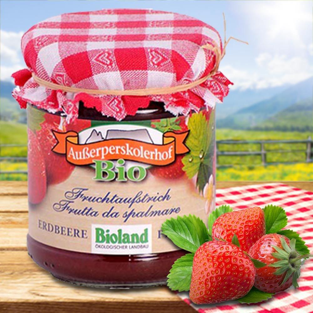 Südtiroler Fruchtauftstrich Erdbeere BIO Außerperskolerhof