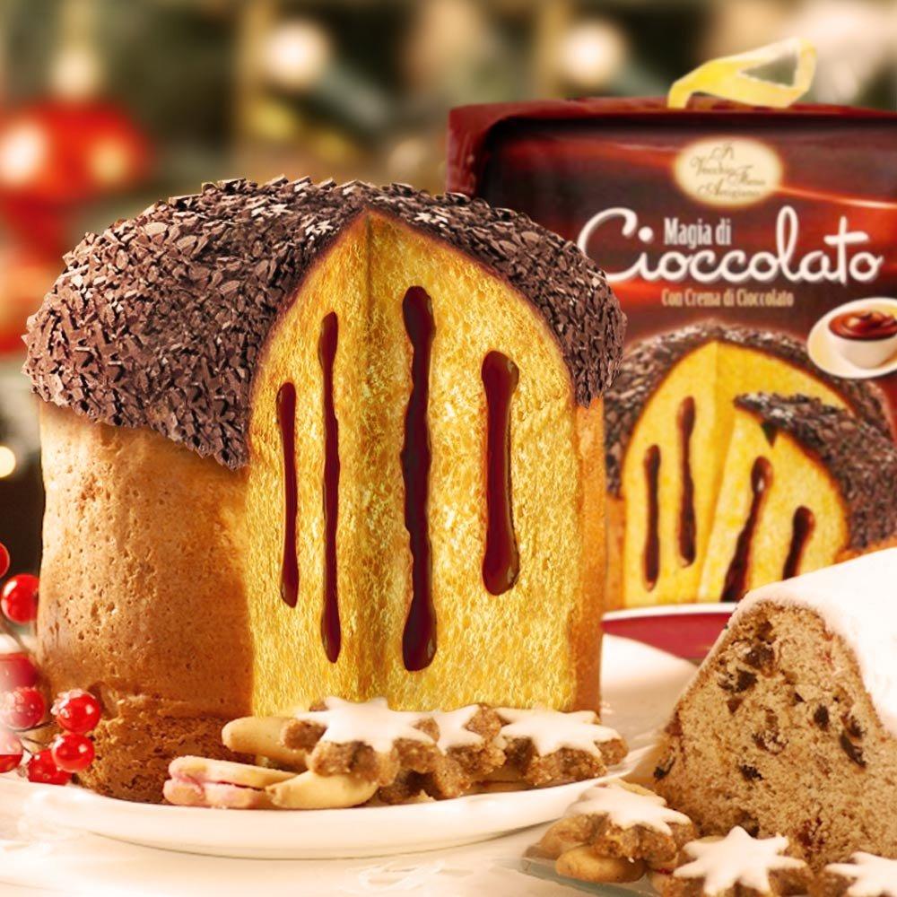 Schokoladen Panettone Cioccolato Vecchio Forno Artigiano 750 gr Italien