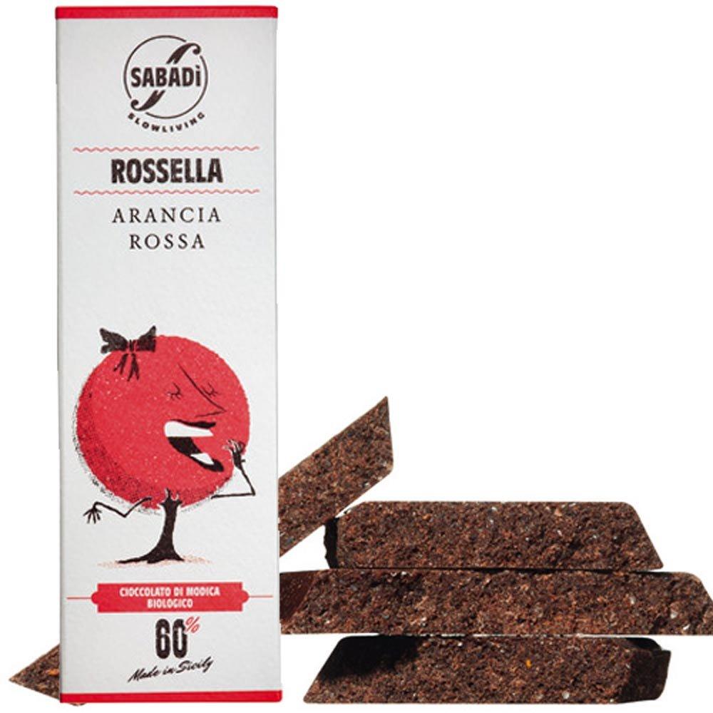 Modica Bio Schokolade Rossella mit Blutorange Sabadi