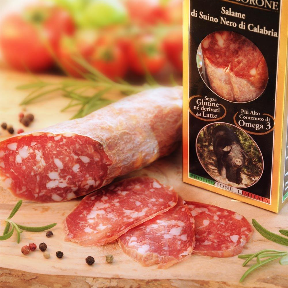 Salame di suino nero Salami vom schwarzen Schwein im Geschenkkarton
