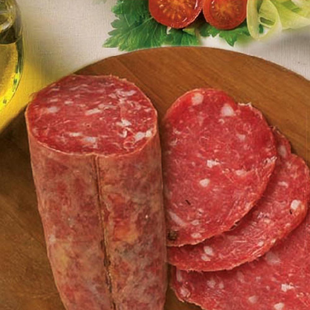 Salame di Suino nero geschnitten Salami vom schwarzen Schwein