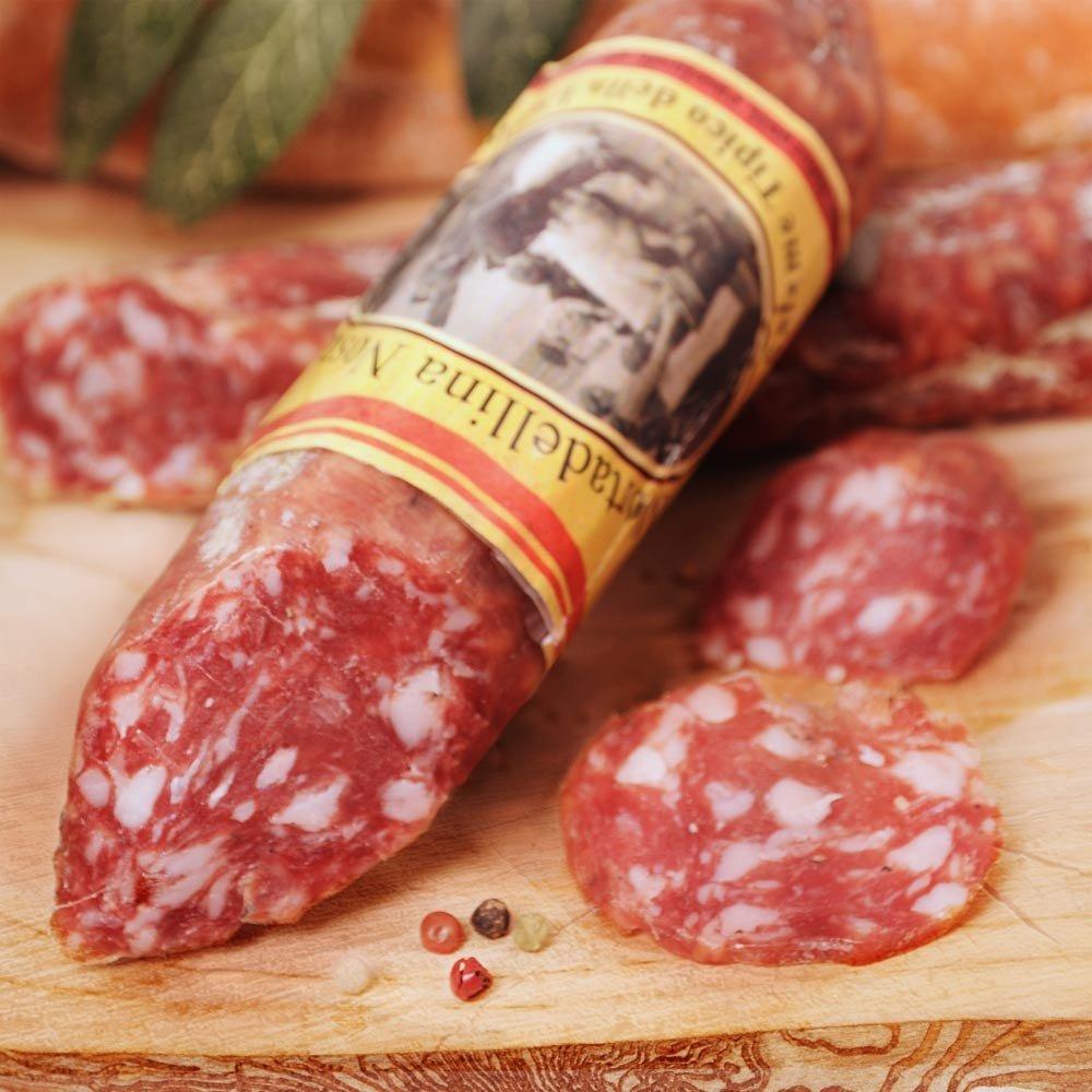 Salamino Mortadellina della Lunigiana traditionelle toskanische Salami Marsili
