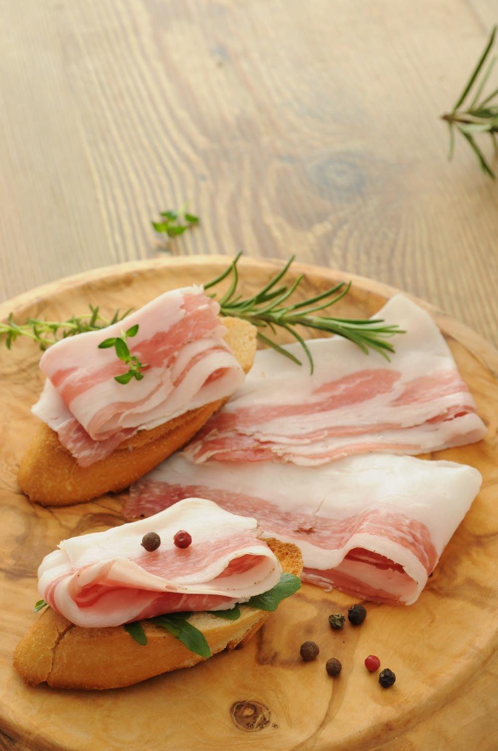 Lardo mit Barolo geschnitten Marchisio Piemont