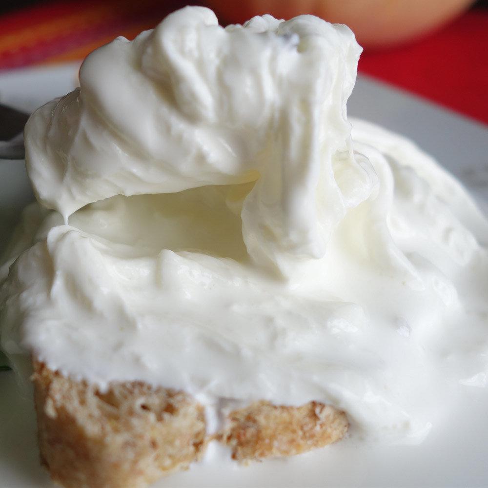 Stracciatella di Burrata Bio Sahne mit Mozzarellastreifen Querceta Apulien