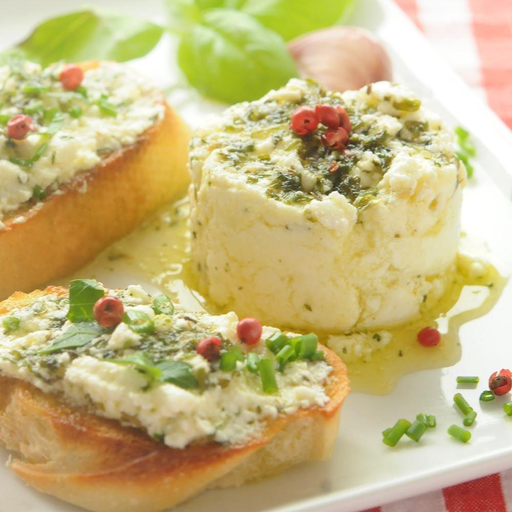 Ziegenfrischkäse mit Kräutern und Olivenöl BIO Olivastro