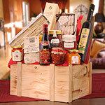 Italia De Luxe Delikatessen in Holztruhe Präsentkorb