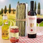 Casa Italia Geschenkset mit Pasta, Sugo, �l und Wein aus Italien
