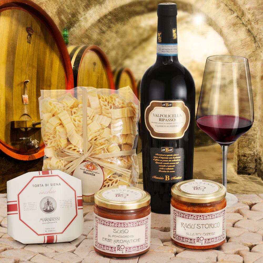 Feinschmecker Menue Geschenkset mit italienischen Spezialitäten