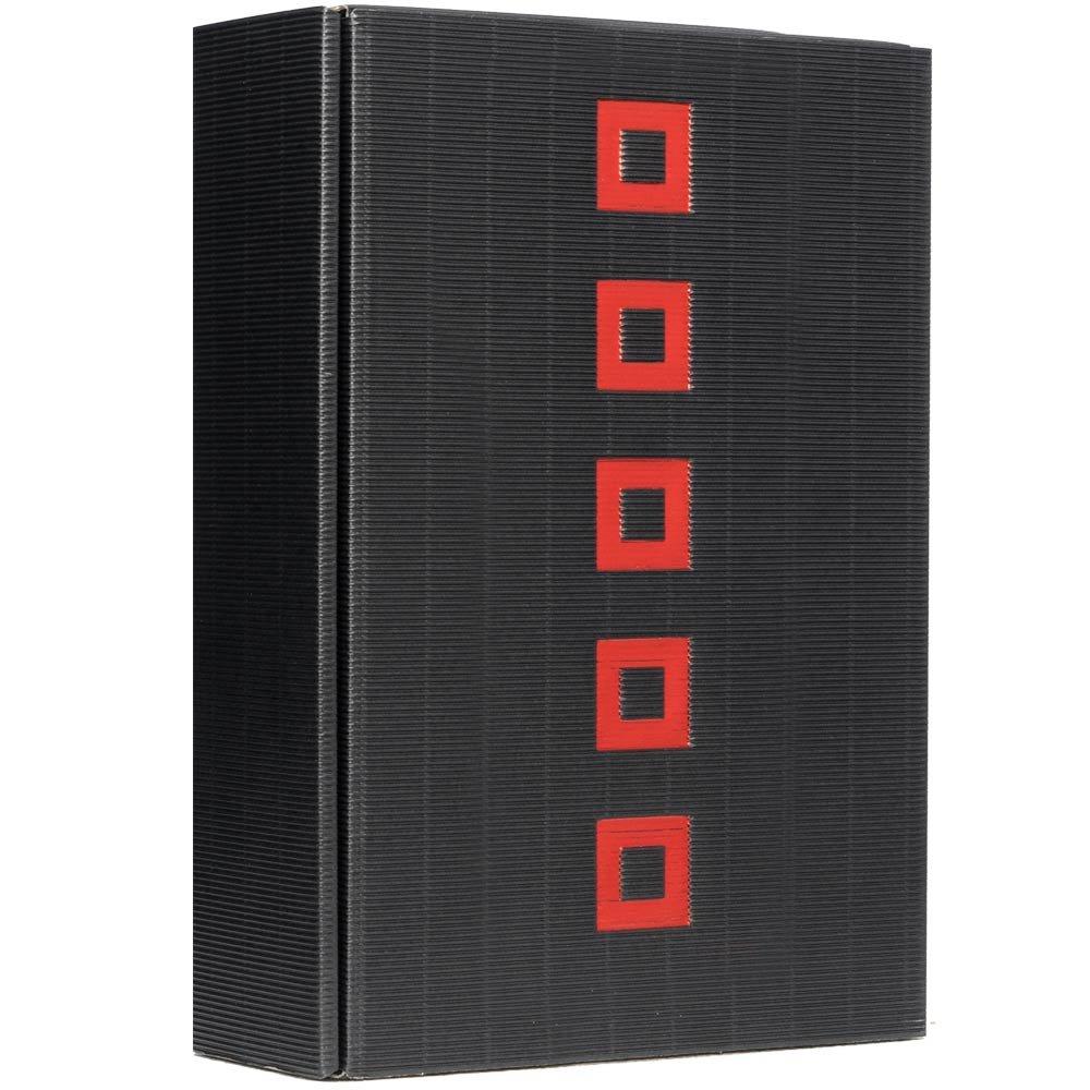 Geschenkkarton QUADRAT schwarz 3er