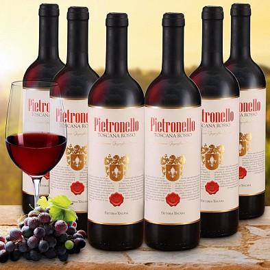 Vorteilspaket 6 Flaschen Pietronello Toscana Rosso IGT