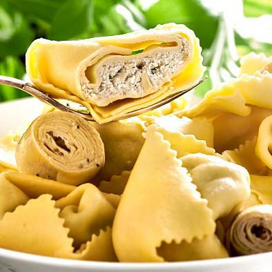 Tortelloni mit Artischockenherzen