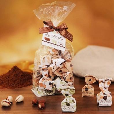 Tartufi Misti - pistacchio, fondente e stracciatella