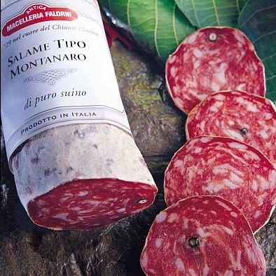 Salami vom Bergschwein-Schinken