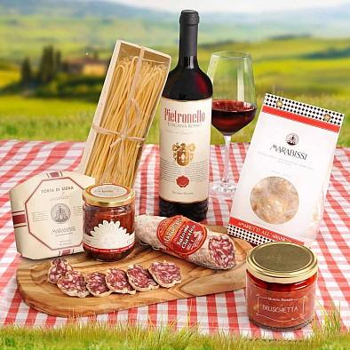 Italienisches Geschenkset - Corbello Rosso
