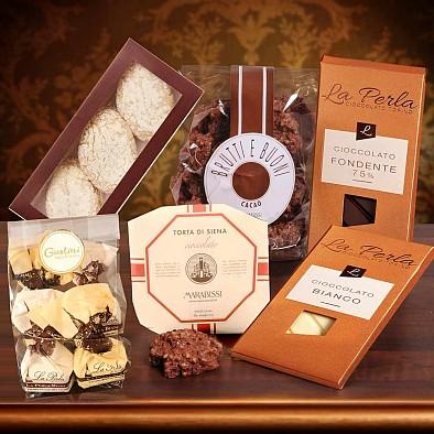 Geschenkset Un bacione di Cioccolato