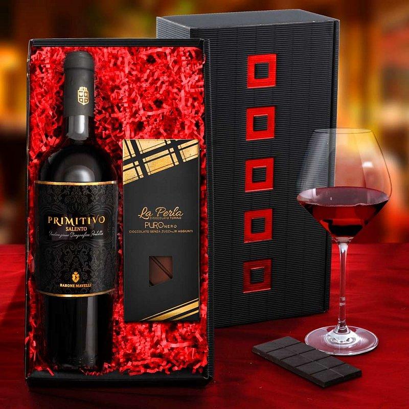 italienisches geschenkset aus wein schokolade geschenkideen gustini. Black Bedroom Furniture Sets. Home Design Ideas