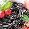 Spaghetti al nero di seppia schwarze Pasta mit Tintenfischtinte