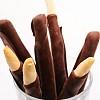 Grissini ricoperto al cioccolato Grissini mit Schokolade