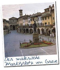 Der malerische Marktplatz von Greve