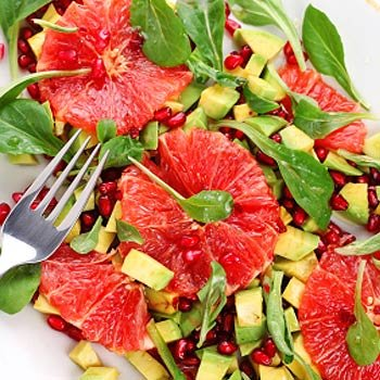 Avocado-Grapefruit-Salat mit Parmaschinken